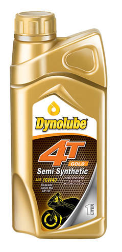 Dynolube 4T Gold Semi Synthetic SAE10W40